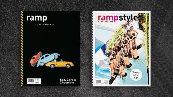Cover der Magazine »ramp« und »ramp.style« auf dunklem Asphalt
